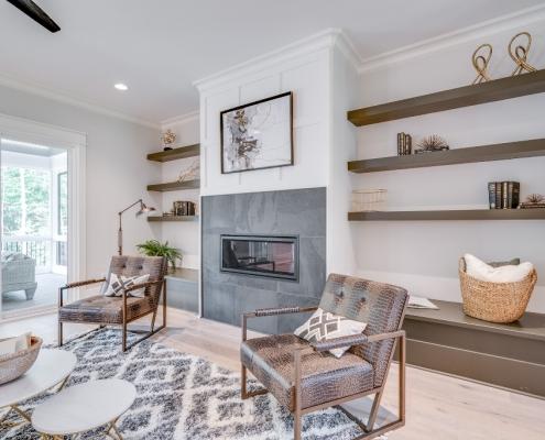 The Malibu | Family Room Fireplace