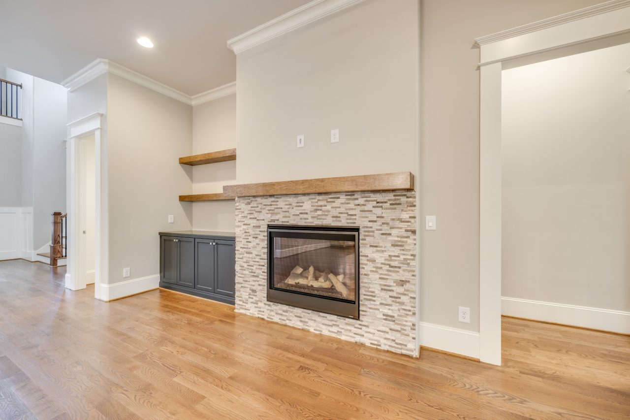The Manchester | Family Room Fireplace
