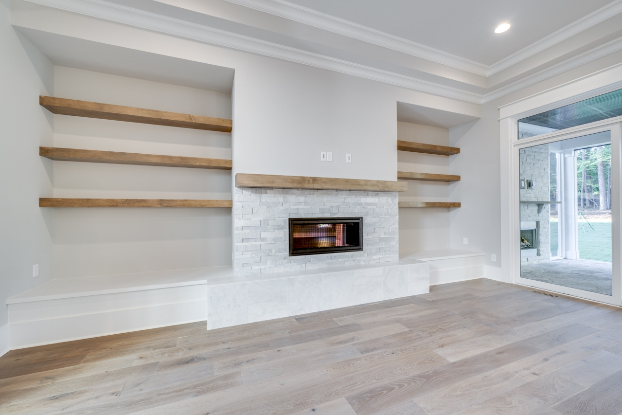 The Palisades | Family Room Fireplace
